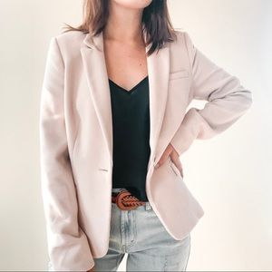 THE LIMITED | Pale Pink Textured Preppy Blazer Sm